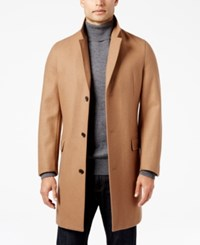 Inc International Concepts Men's Lancaster Topcoat Only At Macy's Camel