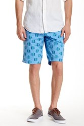 Ganesh Regular Fit Printed Short Blue