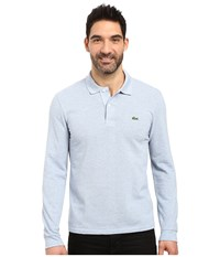 Lacoste Long Sleeve Classic Chine Pique Polo Celestial Chine Men's Long Sleeve Pullover Blue