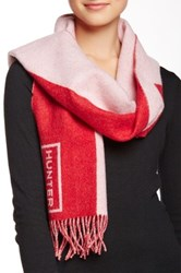 Hunter Original Moustache Wool Scarf Red