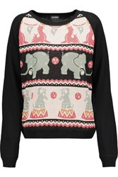 Anna Sui Cotton Blend Intarsia Sweater Multi