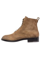 Buttero Gorh Laceup Boots Tobacco Taupe