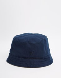 Lyle And Scott Reversible Bucket Hat Navy