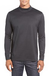 Men's Bugatchi Long Sleeve Mock Neck T Shirt Black