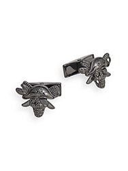 Saks Fifth Avenue Pirate Skull Cuff Links No Color