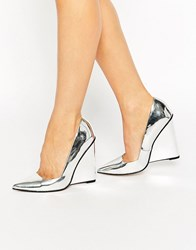 Asos Pulse Pointed Wedges Silver