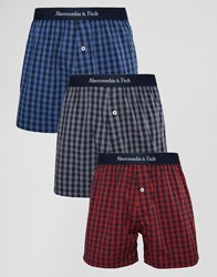 Abercrombie And Fitch 3 Pack Woven Boxers Multi