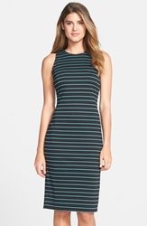 Marc New York Stripe Ponte Midi Dress Navy