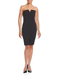 Elizabeth And James Strapless Bodycon Dress Black