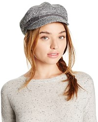 August Accessories Marled Knit Newsboy Hat Gray