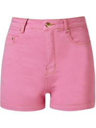 Amapo High Waist Shorts Pink And Purple