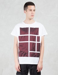 Letasca Bordeaux Metallic Blocking S S T Shirt