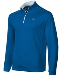 Greg Norman For Tasso Elba Men's 1 4 Zip Golf Pullover Hyper Blue
