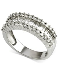 Macy's Diamond Baguette Band 1 Ct. T.W. In 14K White Gold
