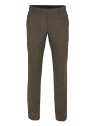 Ben Sherman Men's Rifle Green British Tweed Camden Trouser Green