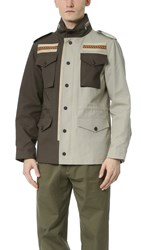 Ports 1961 Embroidered M65 Jacket Military Green