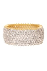 18K Gold Plated Sterling Silver Micropave Cz Eternity Ring White