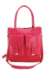 Erica Anenberg Madison Genuine Leather Tote Pink