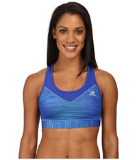 Adidas Techfit Bra Speed Heather Bold Blue Print Matte Silver Women's Bra