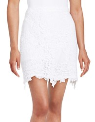 Helene Berman Lace Mini Skirt White