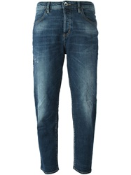 Love Moschino Cropped Tapered Jeans Blue