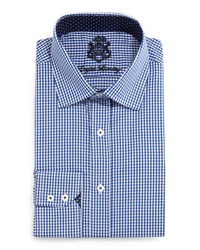 English Laundry Mini Check Woven Dress Shirt Dk Blue