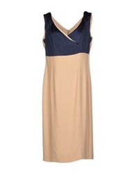 Ivan Montesi Knee Length Dresses Beige