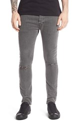 Topman Men's Ripped Stretch Skinny Fit Jeans