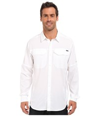 Columbia Silver Ridge Lite Long Sleeve Shirt White Men's Long Sleeve Button Up