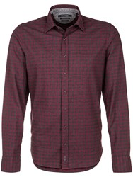 Marc O'polo Long Sleeved Shirt In Cosy Cotton Red