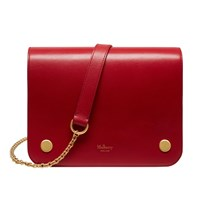 Mulberry Clifton Small Leather Across Body Bag Scarlet