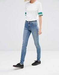 Weekday Thursday High Waist Skinny Jeans Peer Blue