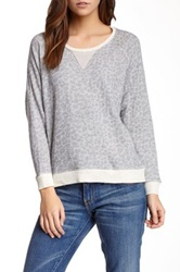 Townsen Cheetah Zip Pullover Sweater Gray