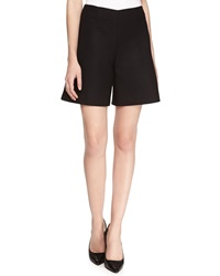 Stella Mccartney Wool Flare Shorts Black