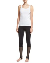 Koral Vertex Mesh Stirrup Leggings Black