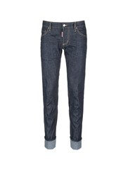 Dsquared 'Slim' Rolled Cuff Jeans Blue