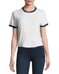 The Fifth Label In A Vision Crop Tee Light Gray