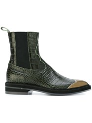 Antonio Marras Pointed Chelsea Boots Green