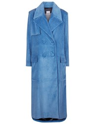 Arthur Arbesser Blue Corduroy Double Breasted Coat