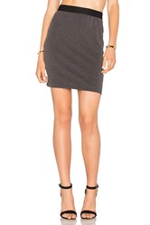 Bobi Stretch Twill Mini Skirt Charcoal
