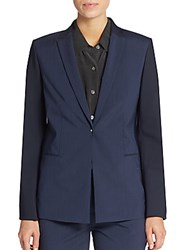 Elie Tahari Darcy Shadow Striped Blazer Navy