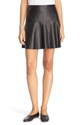 Vince Women's Flare Leather Skirt