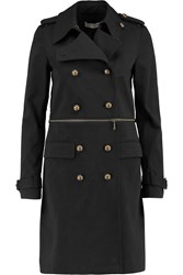 Rebecca Minkoff Melissa Convertible Cotton Blend Canvas Trench Coat Black