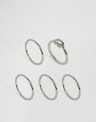 Pieces Blimea Combi Multipack Rings Silver