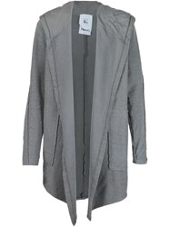 Lost And Found Rooms Hooded Cardigan Grey