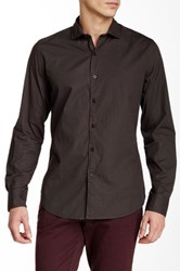 Ganesh Printed Long Sleeve Shirt Brown