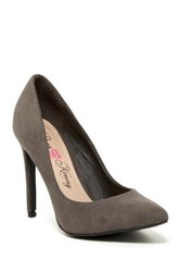 Penny Loves Kenny Opus Sue Pointed Toe Pump Gray