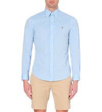 Ralph Lauren Slim Fit Cotton Shirt Blue