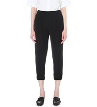 Izzue Tapered Crepe Trousers Black