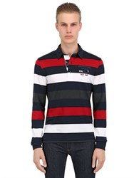 Paul And Shark Fit Heavy Cotton Long Sleeved Polo